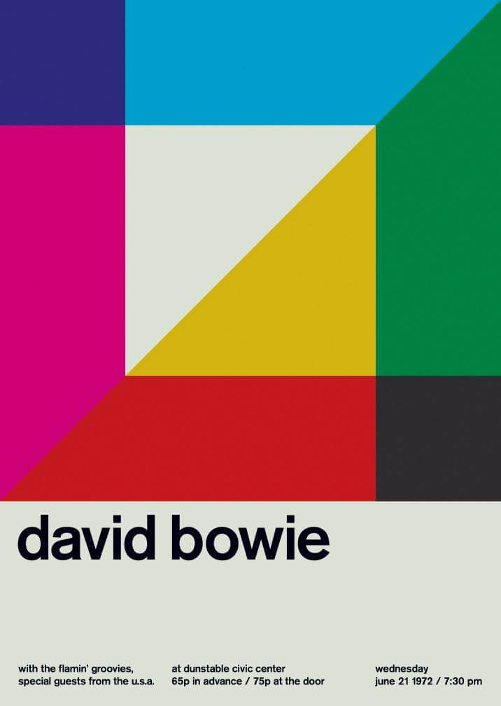 Poster for a Davi Bowie concert